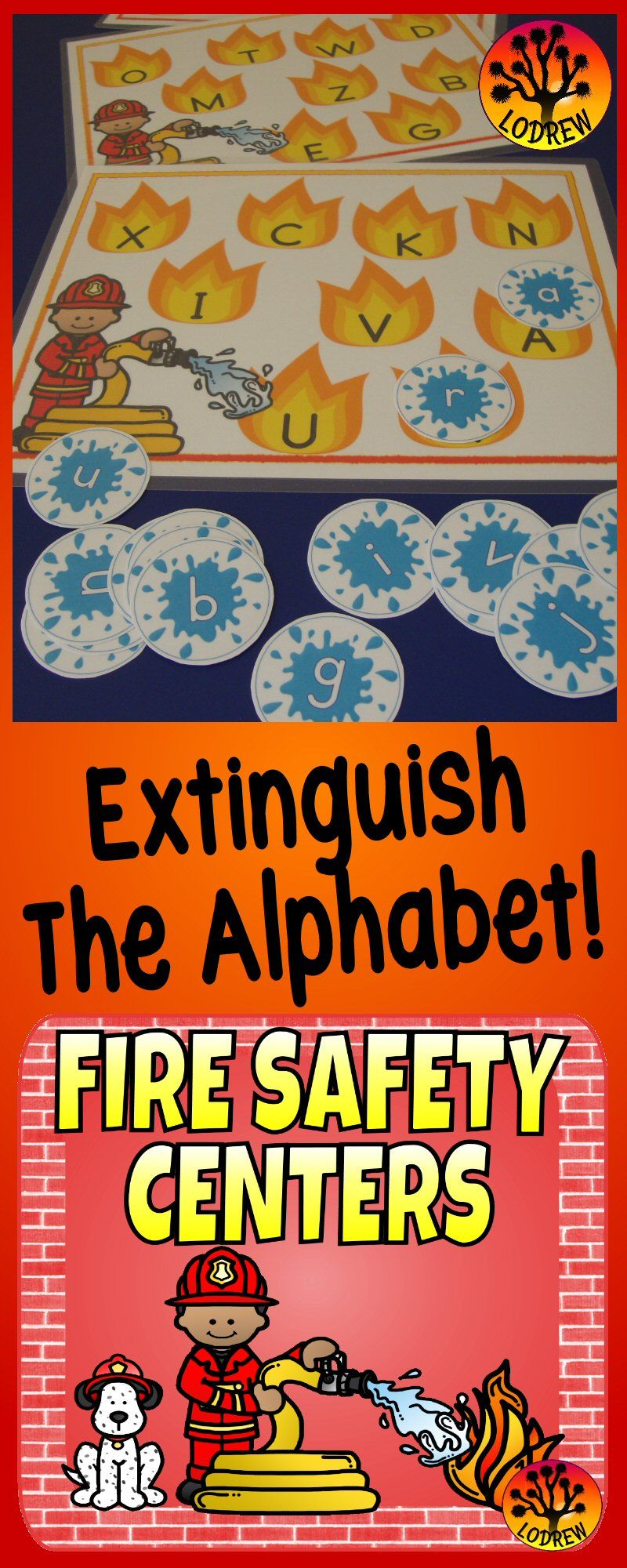 136 pages of fire safety activities including brag tags