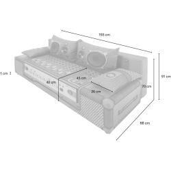 Schlafsofa – grau – 91 cm – 88 cm – Polstermöbel > Sofas > Einzelsofas Möbel K…
