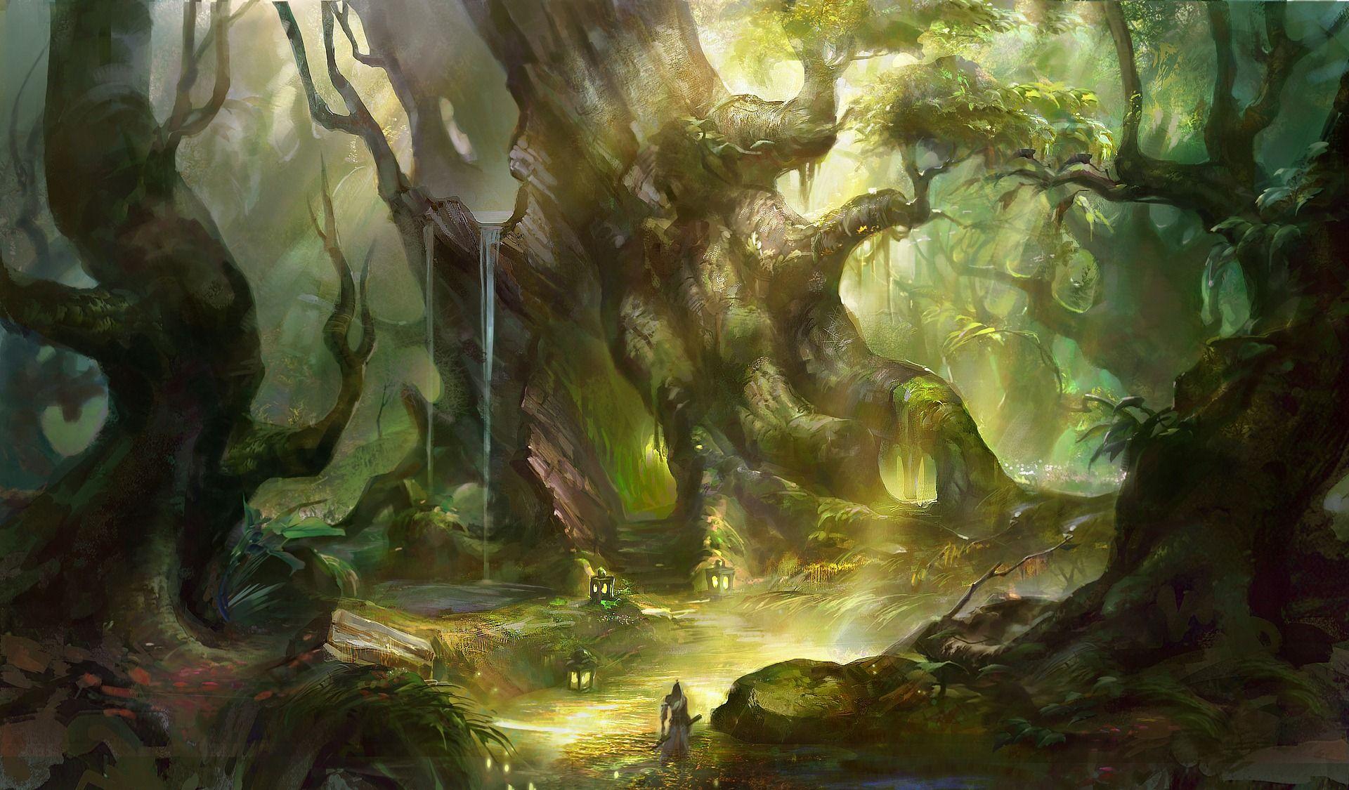 Fantasy Forest Wallpapers Fantasy Forest Forest Wallpaper Deviantart Fantasy