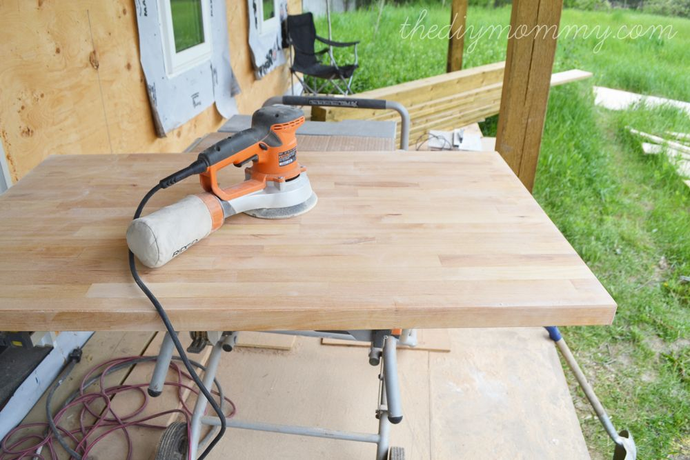 Whitewash And Seal A Butcher Block Counter Top Butcher Block