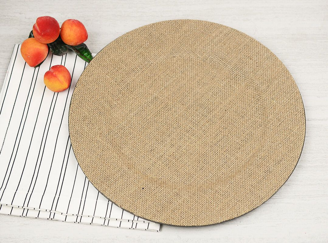 Burlap Charger Plates | Plate chargers, Burlap and Weddings