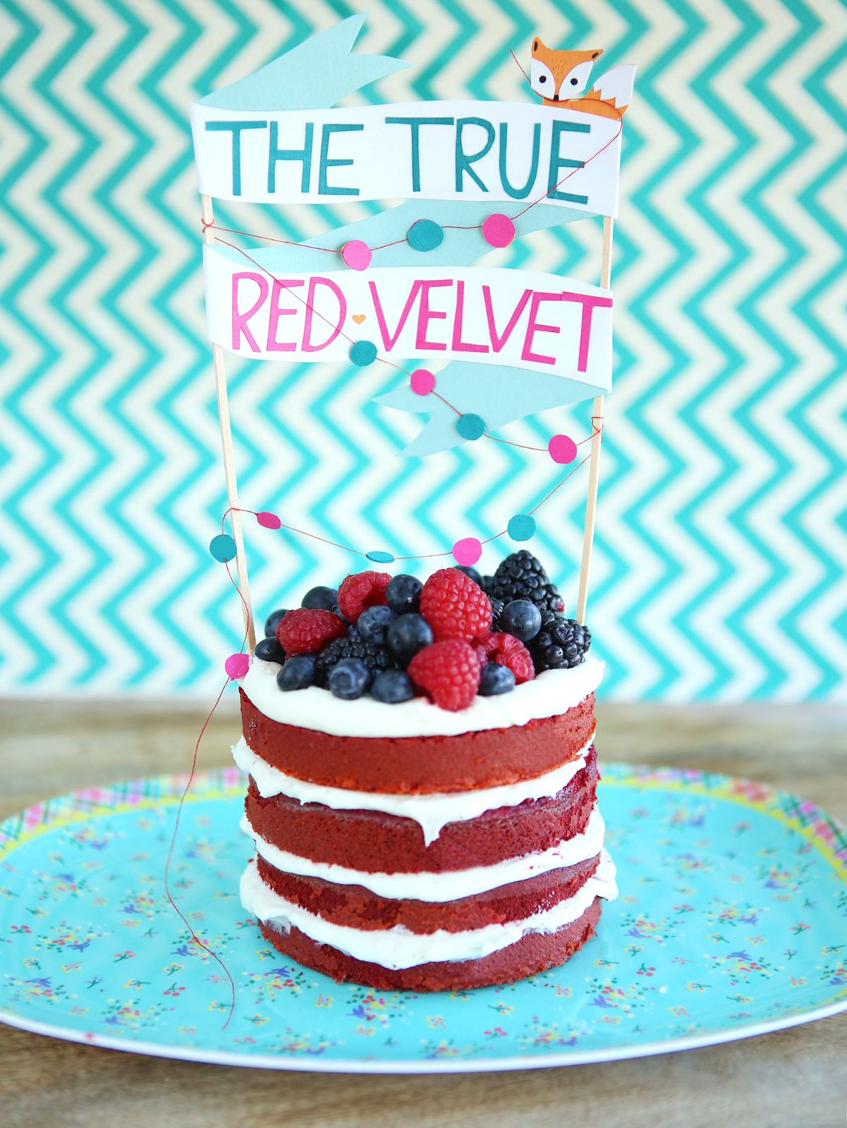 The true red velvet with natural food coloring with cream cheese ...