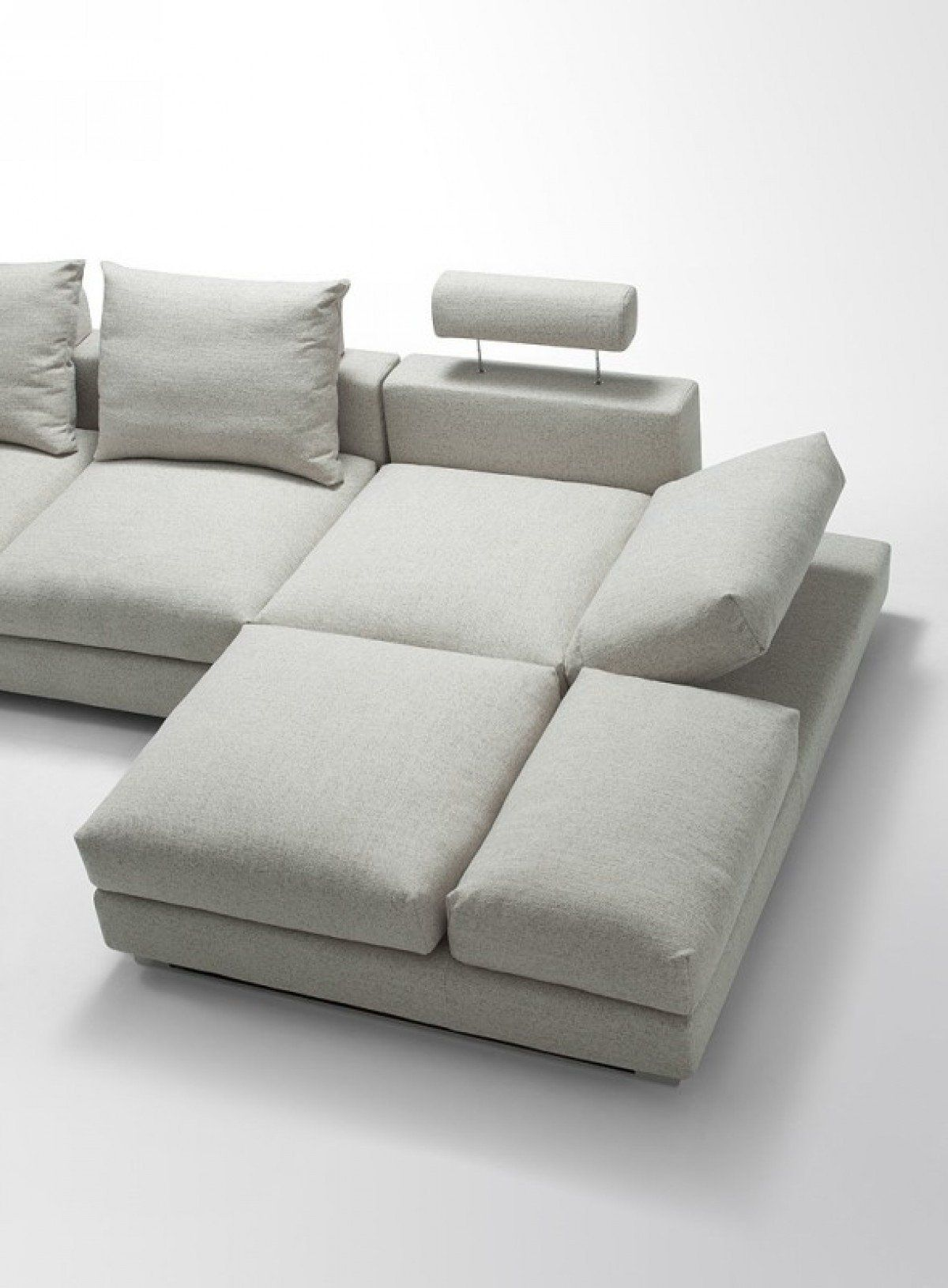 Divani Casa Vasto Modern Fabric Sectional Sofa With Down Feather
