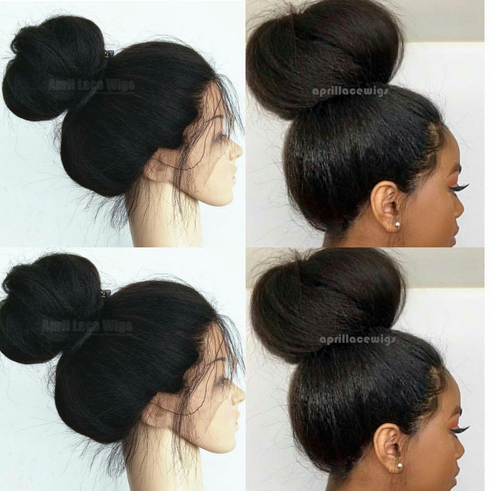 Italian Yaki Full Lace Wig Make A Bun Beautiful Style Italianyakiwig Fullacewigs Lacewigs Aprillacewigs Full Lace Wig Lace Wigs Braids For Black Hair