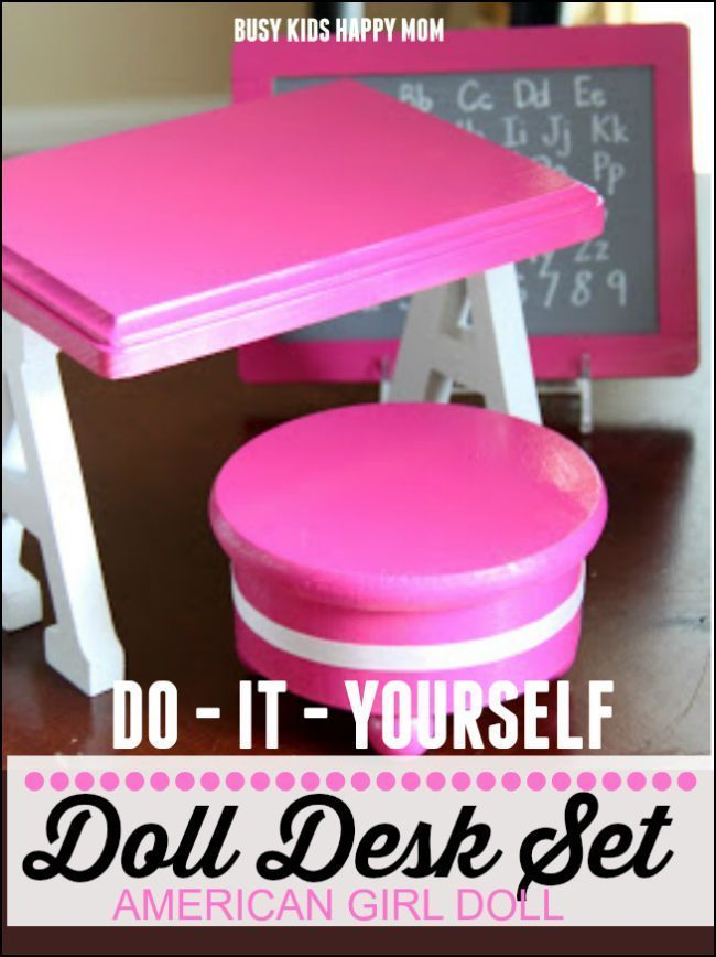 DIY American Girl Doll Furniture #americangirlhouse