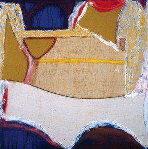 "Marcello Mariani Forma archetipa / Archetypal shape. 2007. oil and mixed media on felt. 200x200 cm. From ""La via pittorica al sacro / Painting towards the Sacred (1957-2007)"" exhibition, 2008. Palazzo Venezia National Museum, Rome."