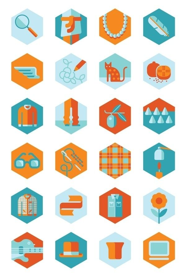 2c3ebe49928a7 Hexagonos + iconografia