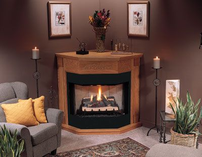Corner Fireplace Propane Gas Logs Gas Appliances