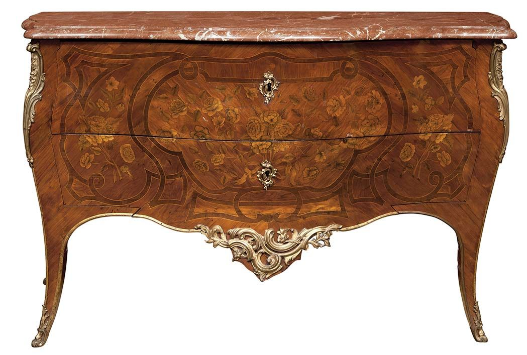 date unspecified Louis XV Gilt-Bronze Mounted Tulipwood and Kingwood