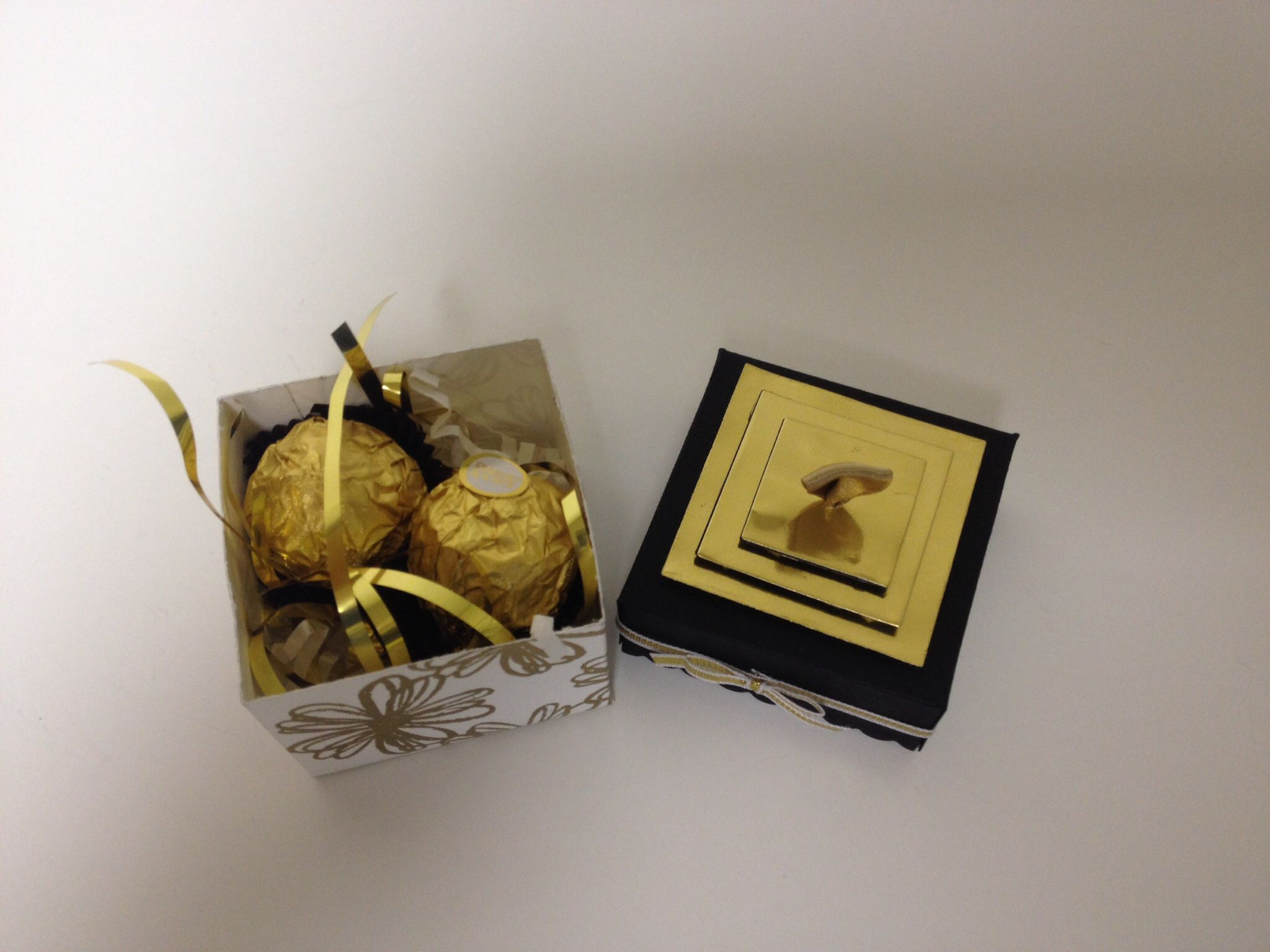 Mini Treat Box....a perfect fit for two chocolates!