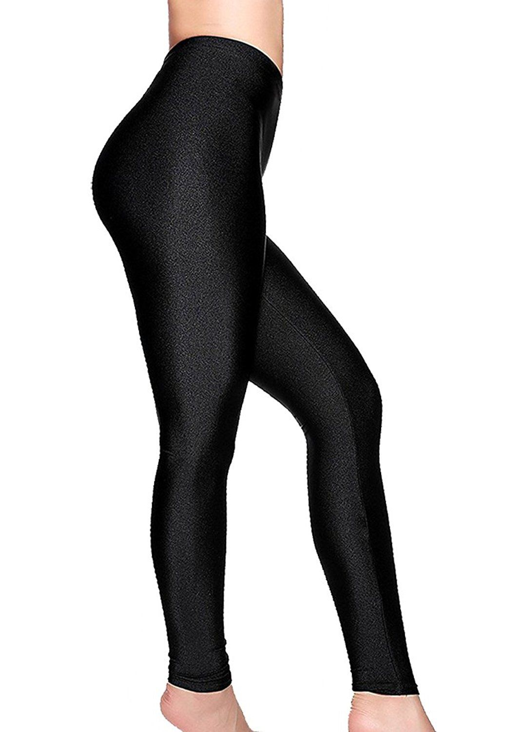 bc979e827bc Romastory Women s Stretched Shiny Sports Leggings Elastic Yoga Pants Tights      Click on the image for additional details.