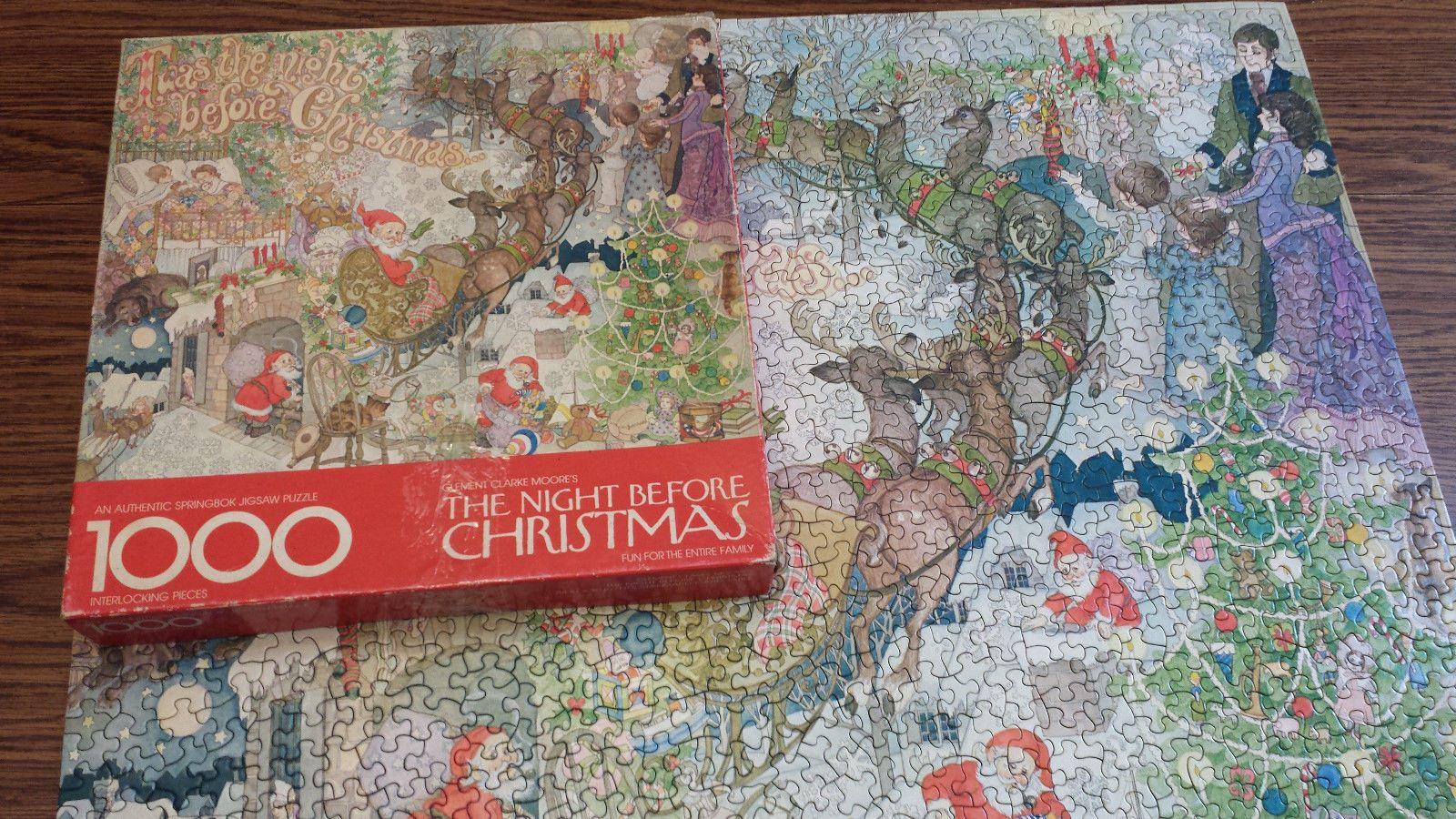 Springbok Twas The Night Before Christmas Jigsaw Puzzle 1000 Piece ...