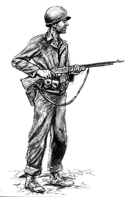 how to draw a german soldier ww1