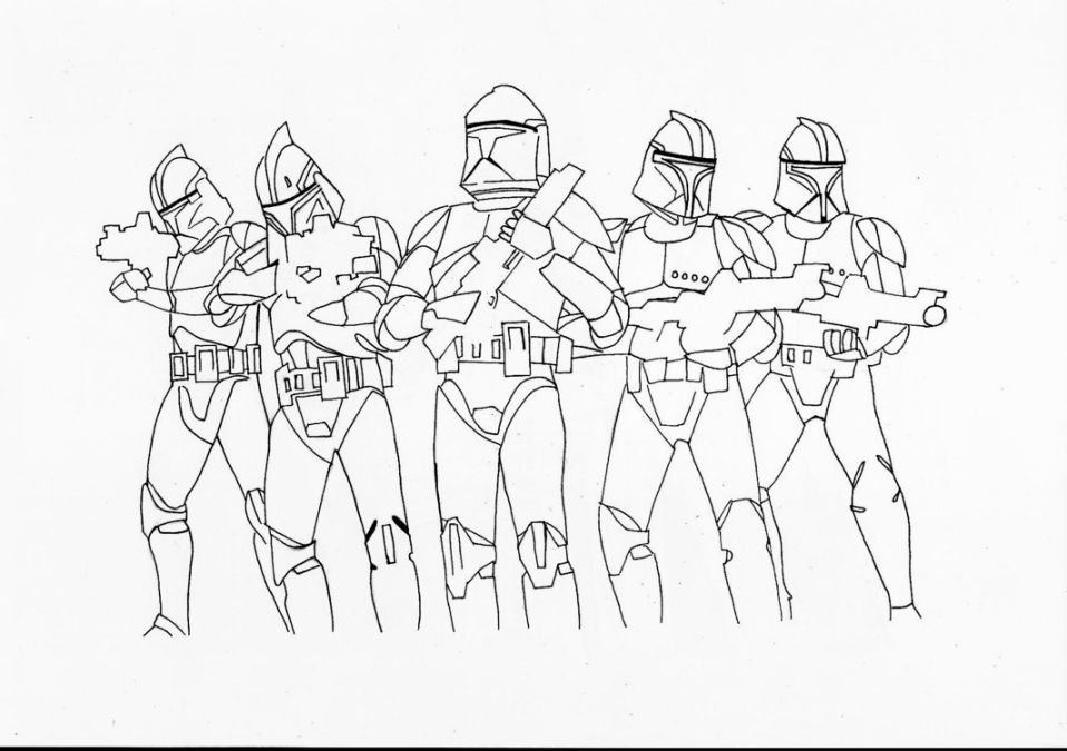Star Wars Clone Wars Coloring Pages Halaman Mewarnai