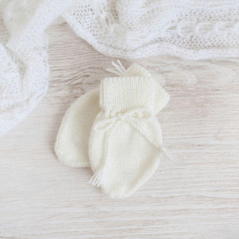 El blog de Blanqui: Cómo Tejer Manoplas para Bebé con Dos Agujas ...