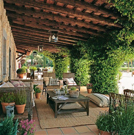 Clear Definition Between Back Door Area To The Outdoor Living Space. Spanish  Patio, Spanish
