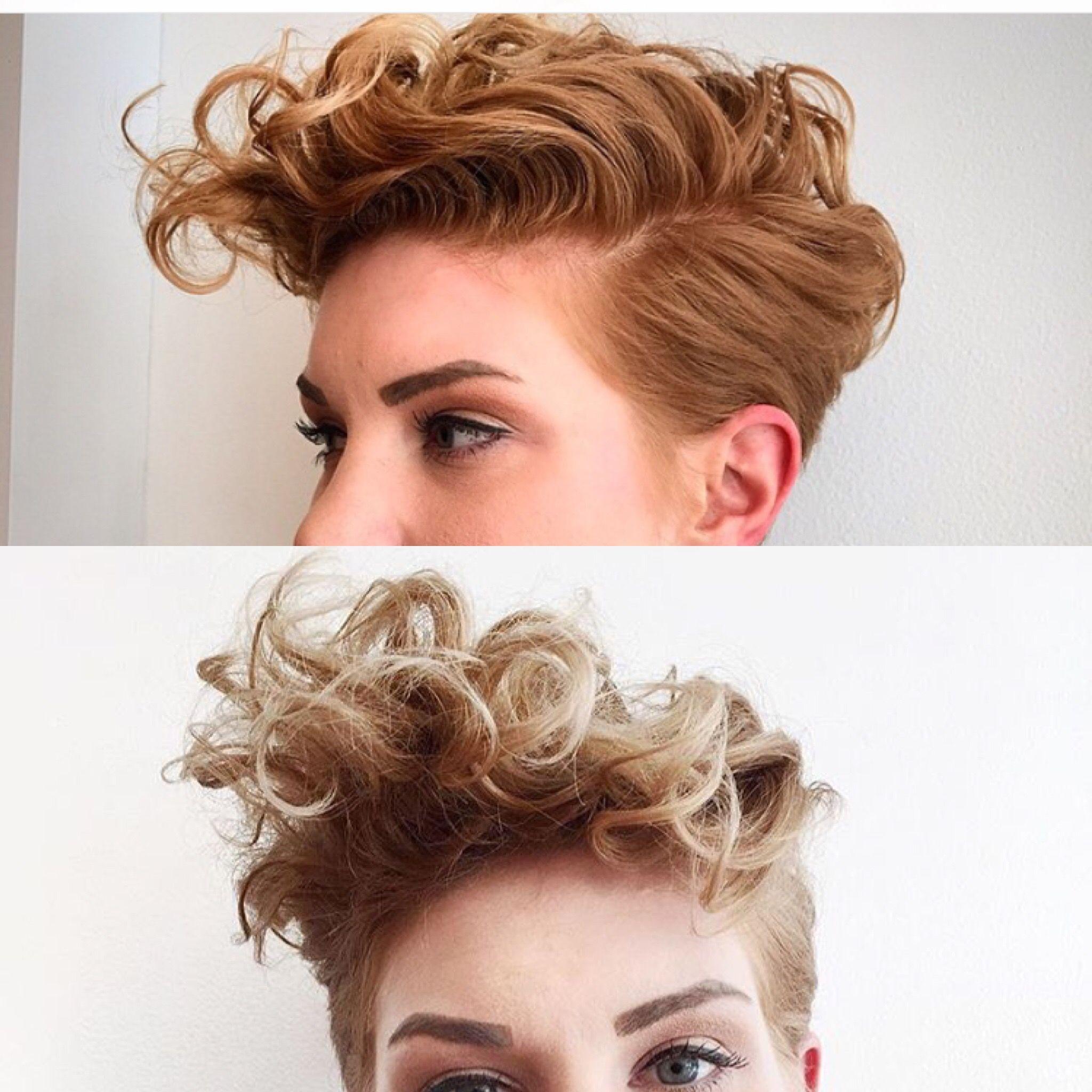 curly pixie faux hawk pixies