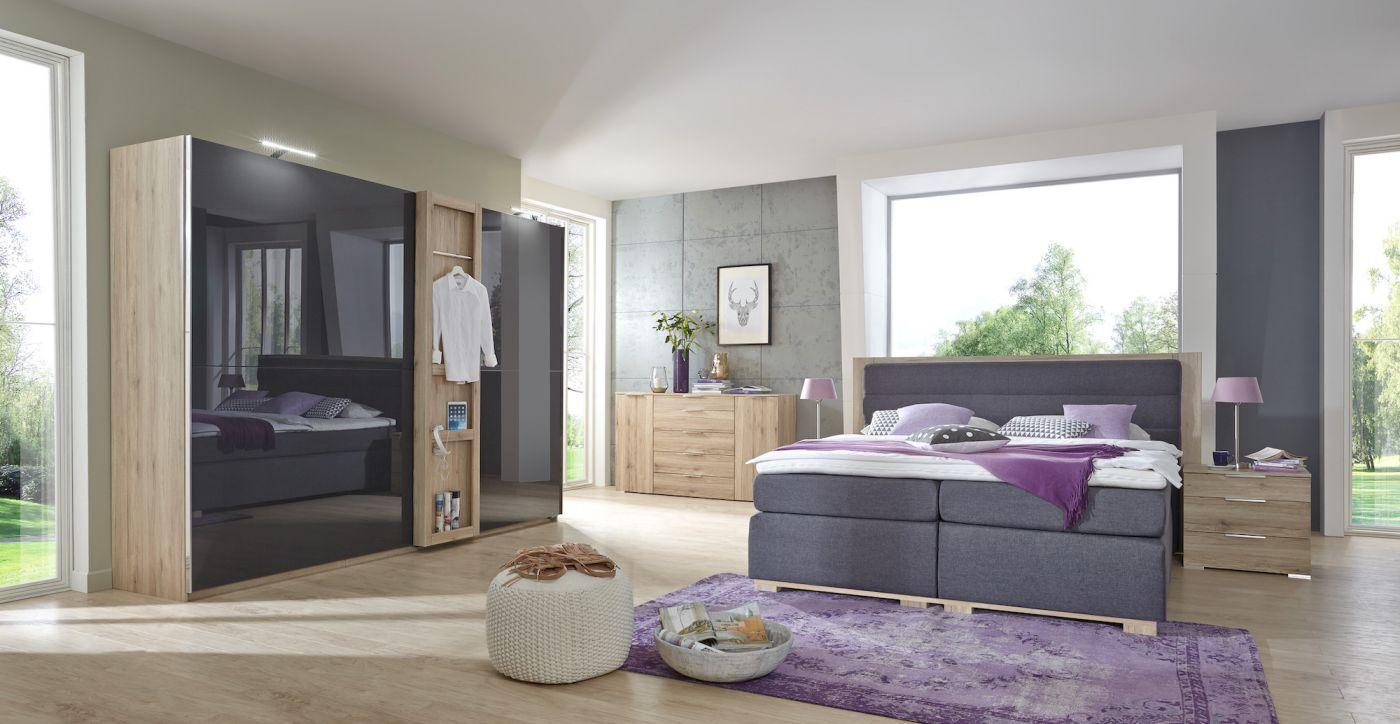 New Details zu Schlafzimmer Dandy San Remo Wei Komplett Doppelbett Kleiderschrank Dandy