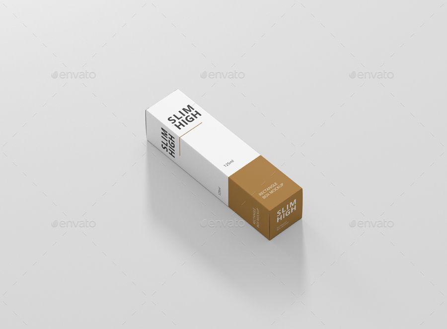Download Box Mockup Slim High Rectangle Ad High Affiliate Rectangle Easy Slim Box Box Mockup Mockup Box Design