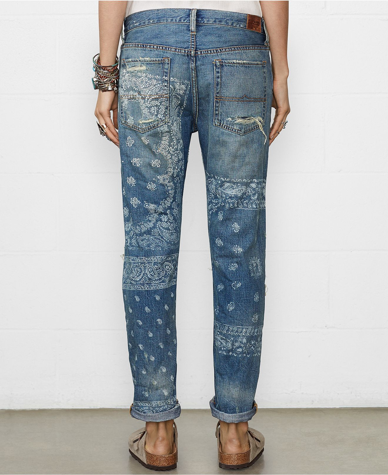 08213acf0 Denim Supply Ralph Lauren Distressed Boyfriend Jeans Aldine-Wash ...