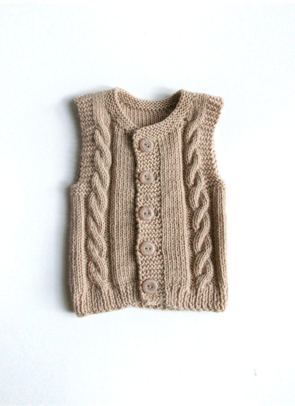 Knitted baby vest. | dos agujas | Pinterest | Ärmellose weste ...