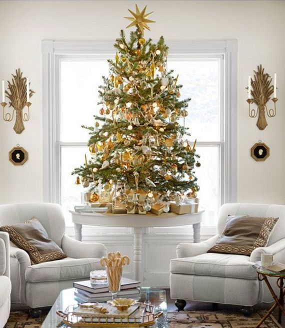 Elegant Christmas Decorating Ideas Country Living Room Decor 06