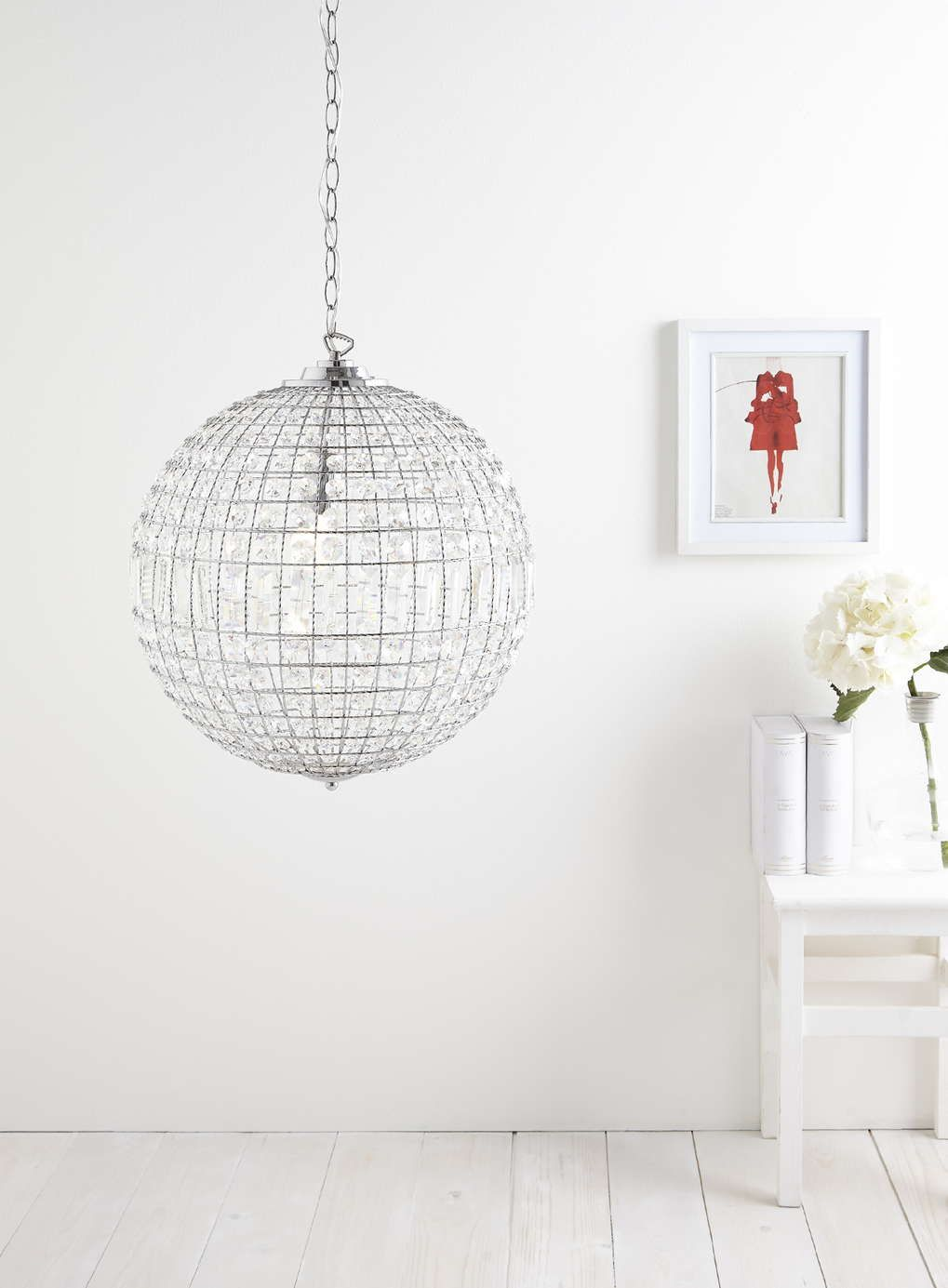 Bathroom Chandeliers Bhs 60% off: ursula large crystal ball chandelier pendant light - bhs