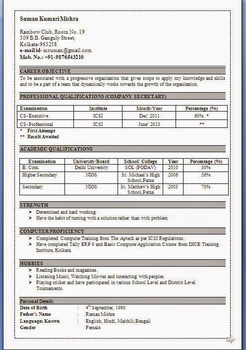 examples of resume objectives Sample Template Example ofExcellent - resume objective secretary