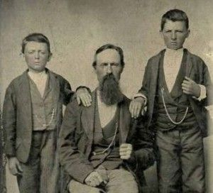 Robert Sallee James with his sons, Jesse and Frank. Circa ...