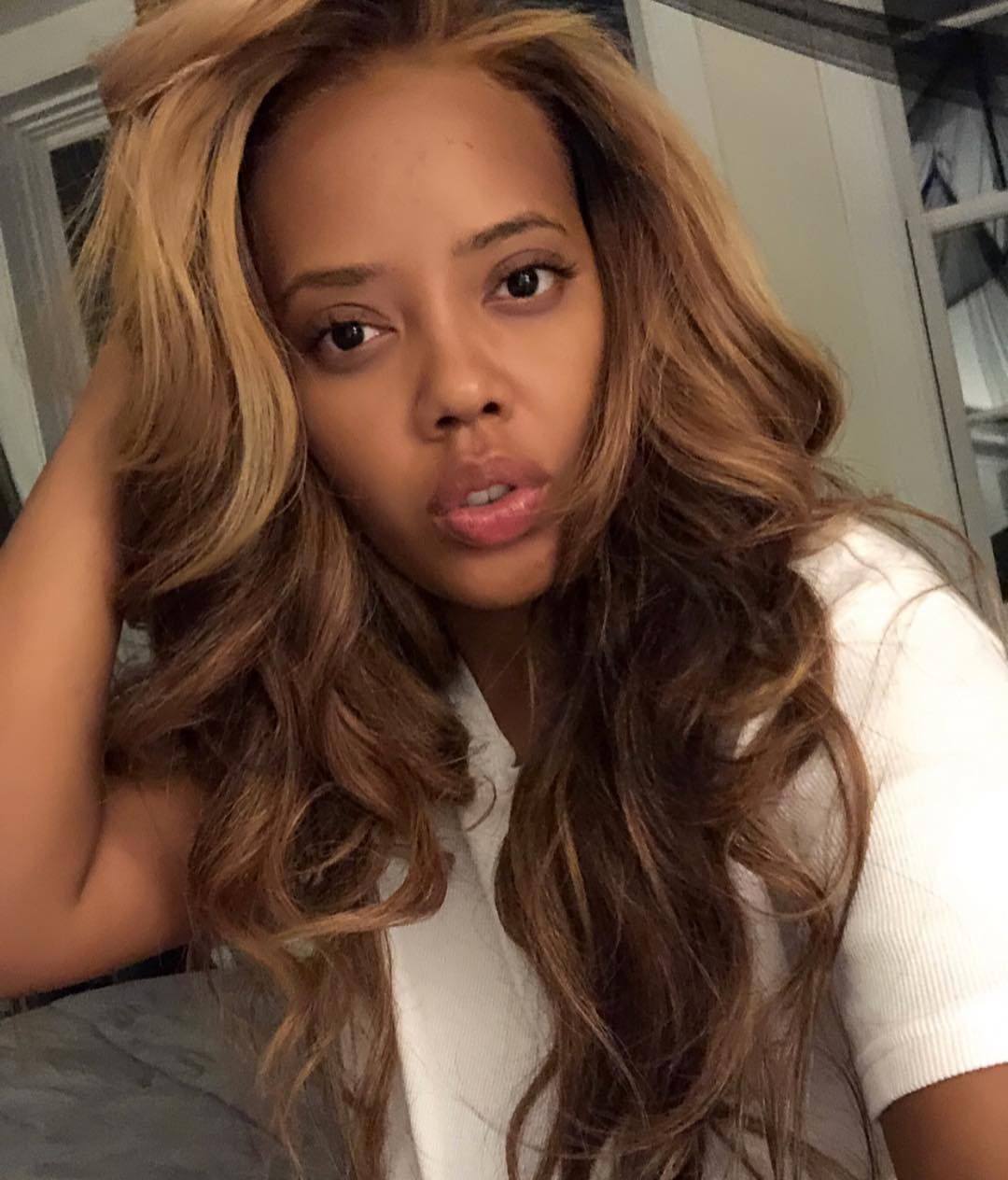 angelasimmons switched it up with a new hair color