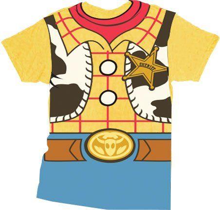 efd9a7aa Amazon.com: Toy Story Woody Cowboy Costume Banana Yellow Adult T-shirt Tee:  Clothing