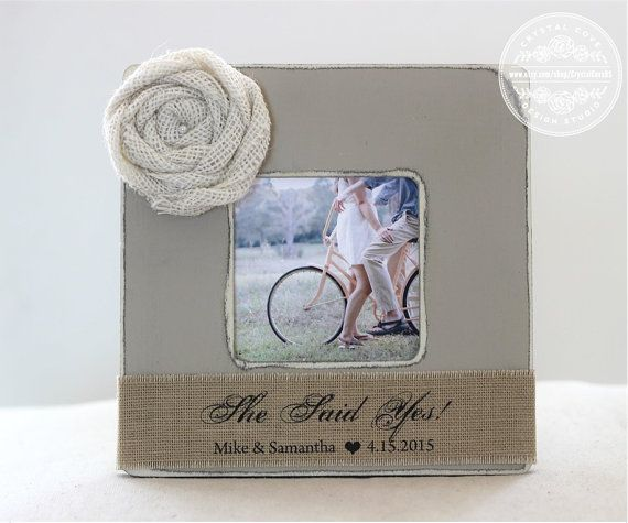 Personalized Engagement Gift, Picture Frame, Engagement