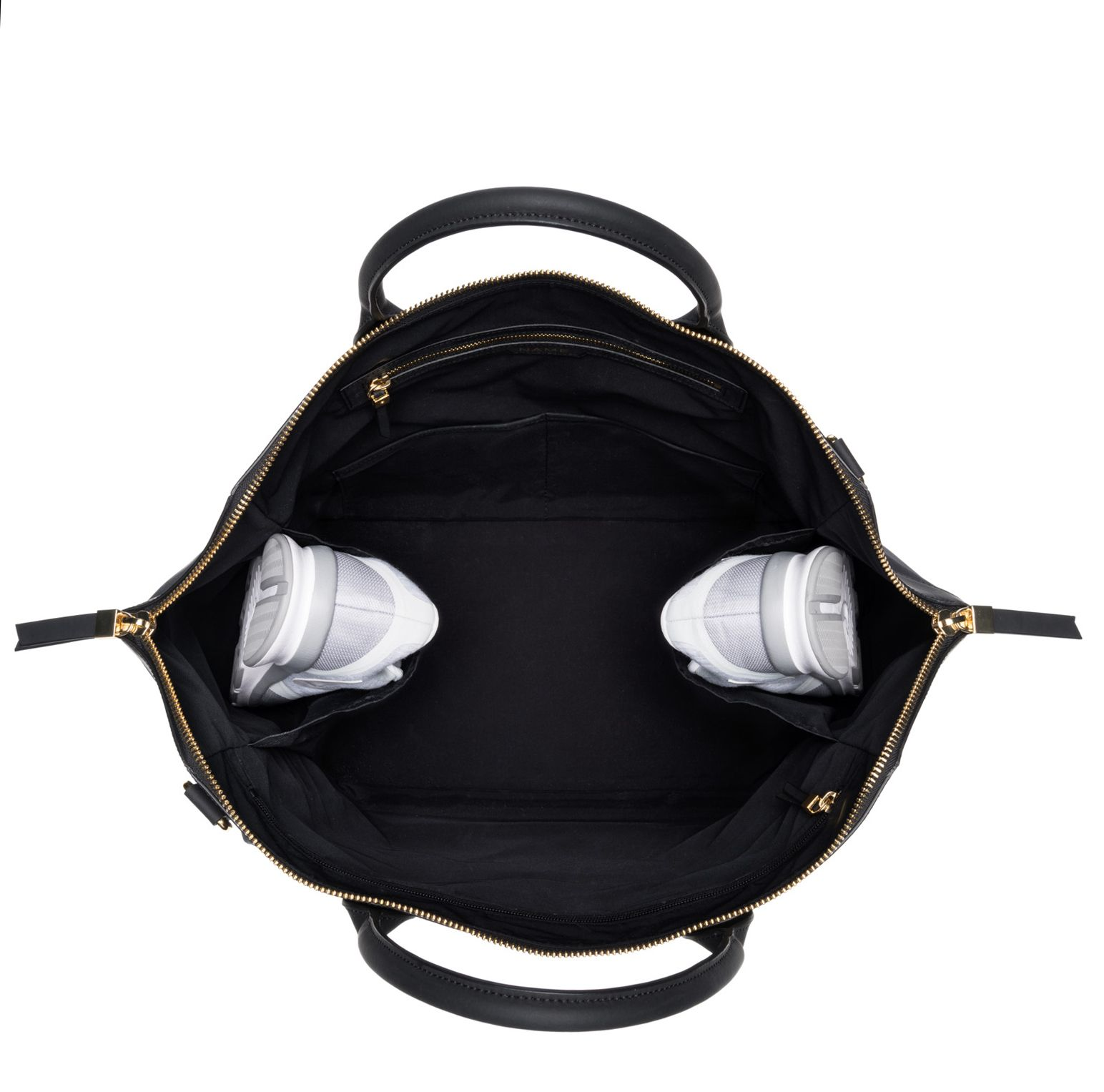 de2eb66eea5 Name Satchel- Luxury gym bag made with anti-microbial nylon, genuine  Italian leather, gold metal hardware, and understated front yoga mat pocket.