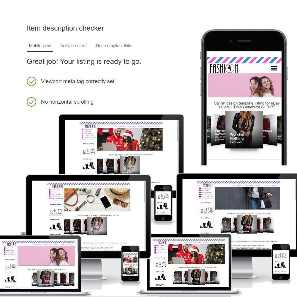 Professional Responsive Fashion HTML5 eBay Template Shops