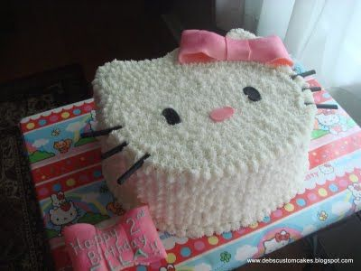 Incredible How To Make Your Own Hello Kitty Cake Hello Kitty Cake Hello Funny Birthday Cards Online Elaedamsfinfo