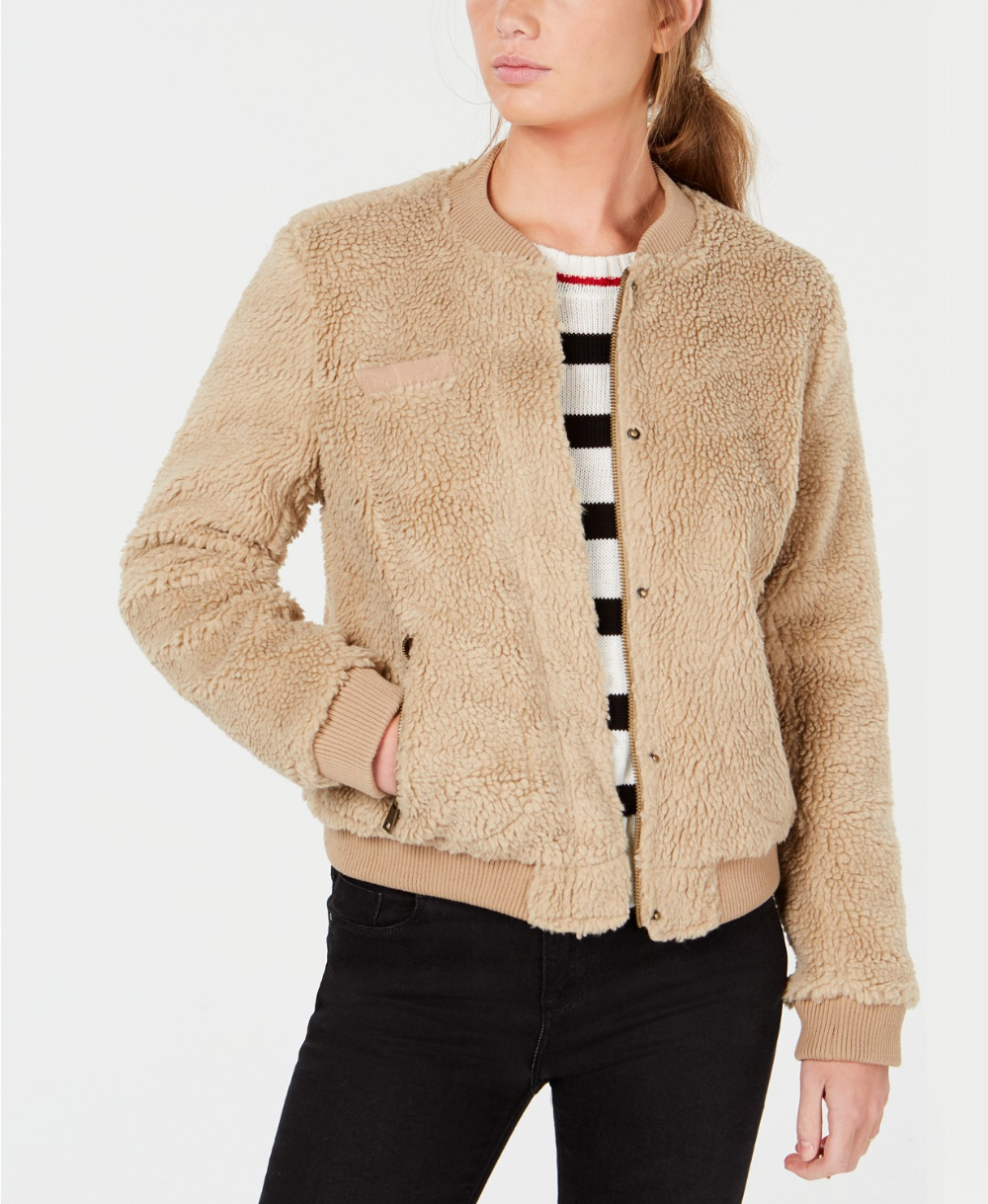 Levi S Sherpa Bomber Jacket Reviews Jackets Vests Juniors Macy S Bomber Jacket Women Faux Fur Bomber Jacket Jackets For Women [ 1219 x 1000 Pixel ]