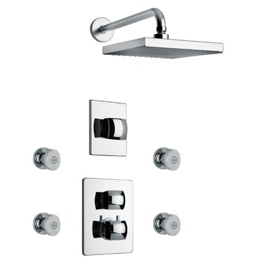 LaToscana Lady Thermostatic Tub and Shower Faucet with Valve | Wayfair