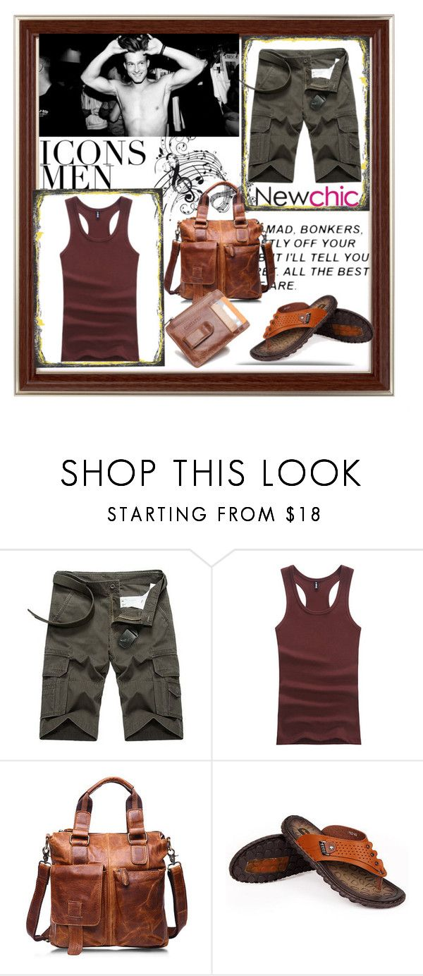 """Newchic // Men fashion 4 //"" by ozil1982 ❤ liked on Polyvore featuring men's fashion and menswear"