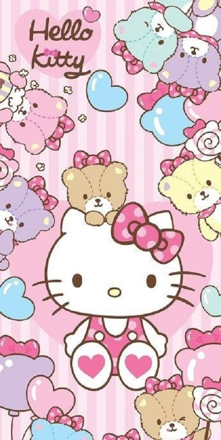 Hello Kitty Pink Lucu Di 2020 Hello Kitty Kartun Anak Kucing