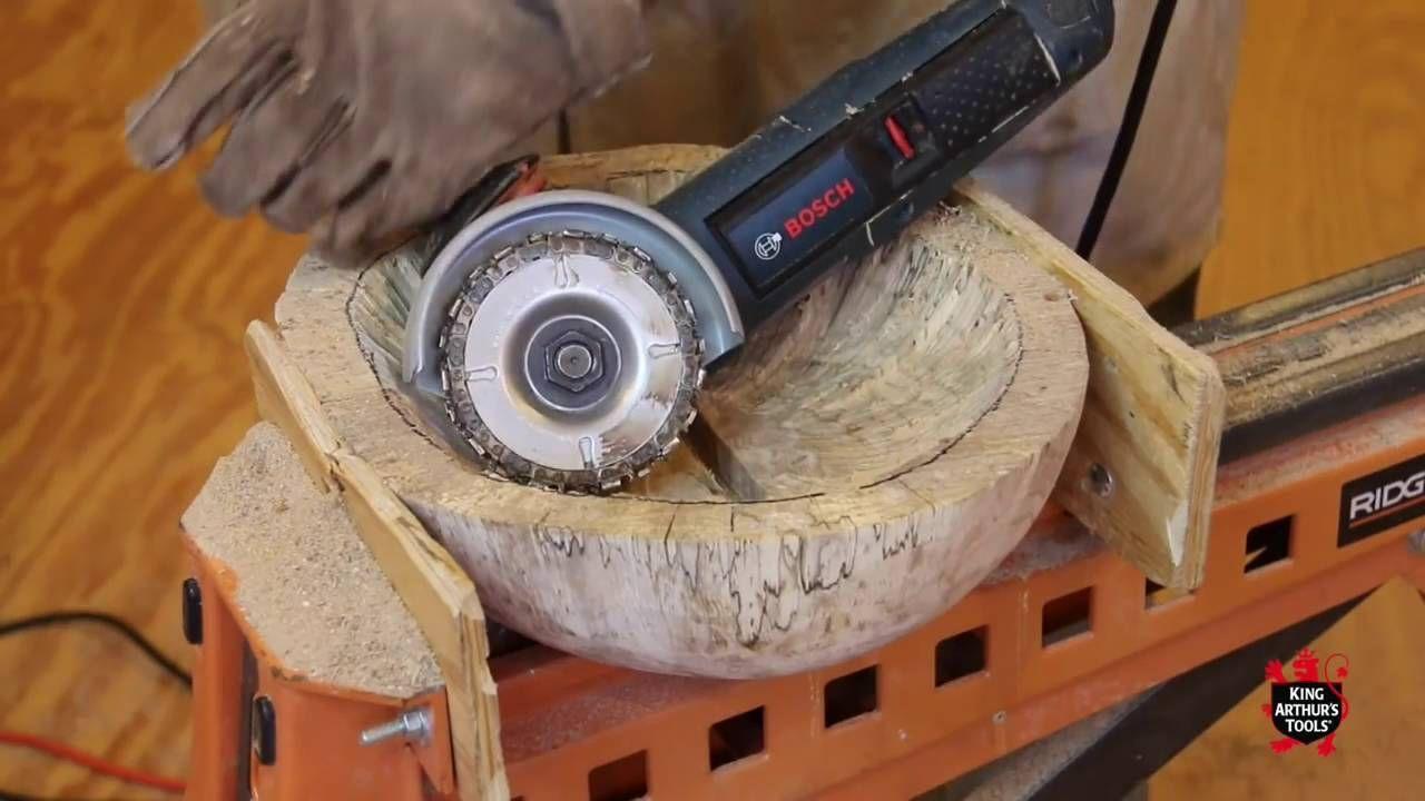 큰 통나무 파서 그릇 만드는 방법 ㄷㄷ