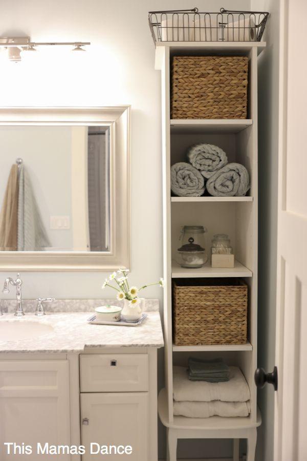 45 Ideias De Armarios De Banheiro Com Estilo Na Moda Bathroom Storage Solutions Small Bathroom Storage Bathroom Towel Storage