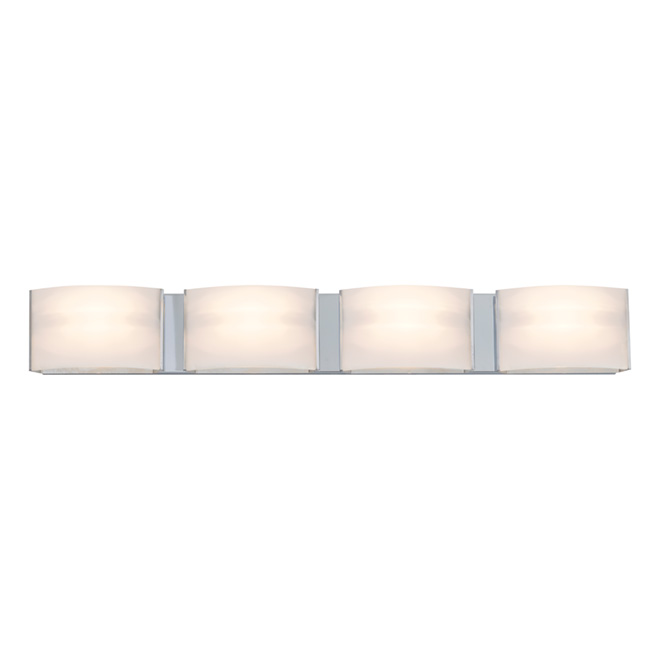 Dvi Lighting 4 Light Wall Sconce Glass Metal Chrome