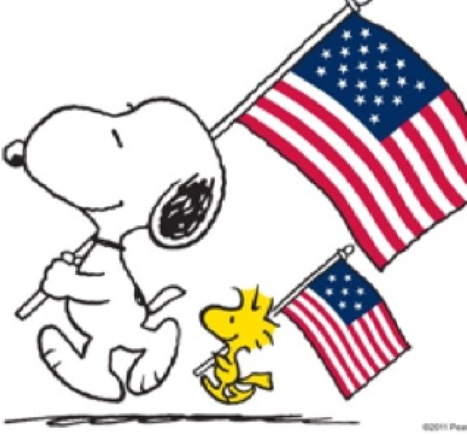 4th of july snoopy. Happy th peanuts woodstock