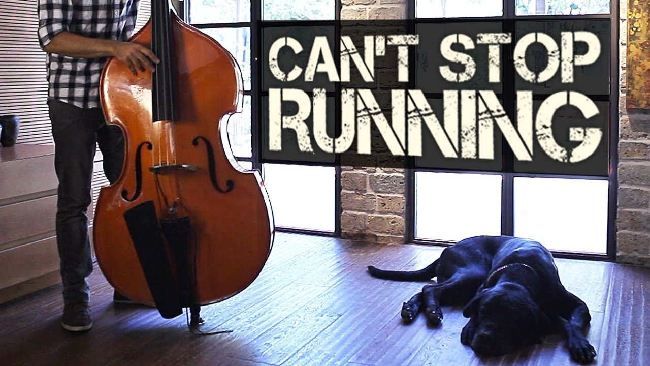 Can't Stop Running - Percussive Double Bass Solo - Adam Ben