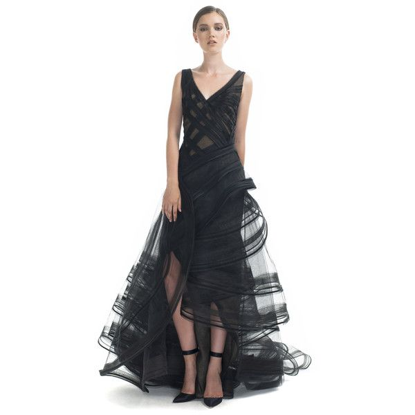 Zac Posen Tiered Ruffle Evening Gown ($11,900) ❤ liked on Polyvore ...