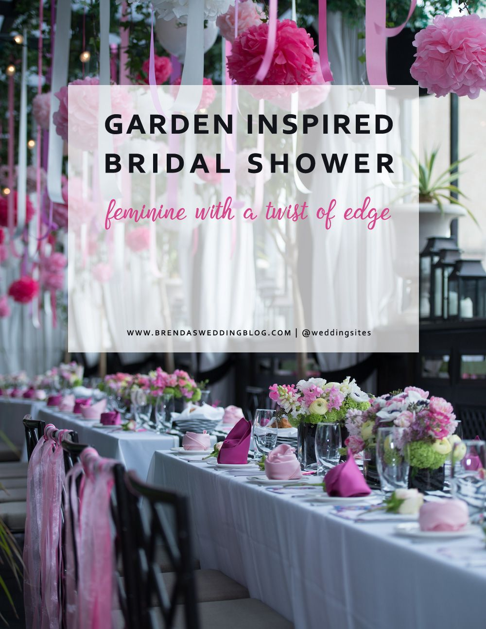 a modern nyc bridal shower where the bride to bes mantra is feminine with a twist of edge lots of black and white stripes reminiscent of kate spade