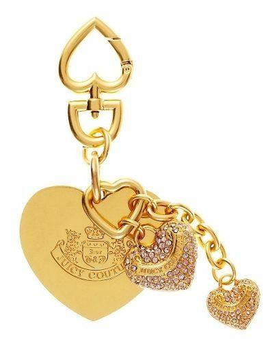juicy couture pave heart key fob ring golden rose humor. Black Bedroom Furniture Sets. Home Design Ideas