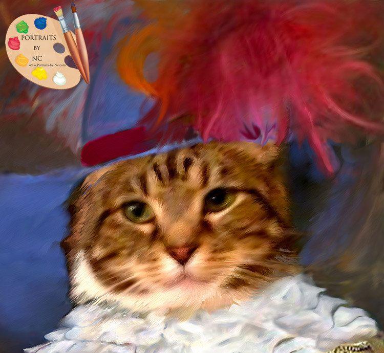 Custom Cats in Costume Pet Portrait