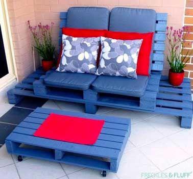 Valérie Damidot adopte le salon de jardin en palettes ! | Rouge ...