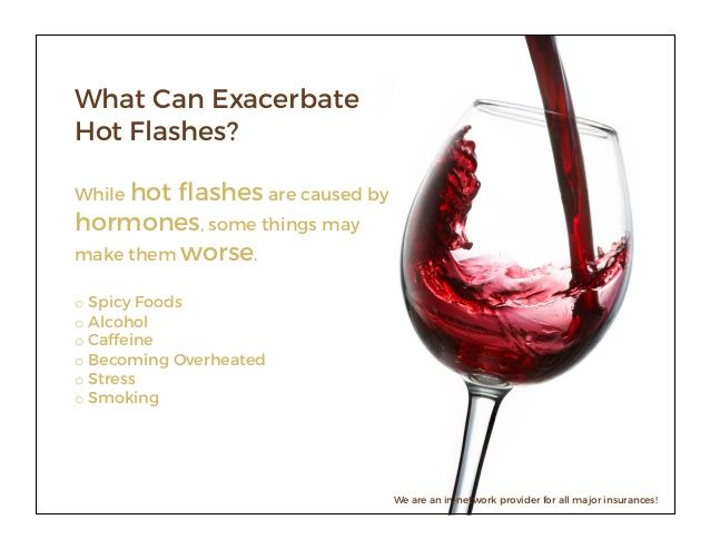 Does red wine cause hot flashes